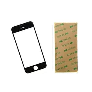 Black Front Glass Lens And Adhesive Sticker