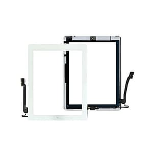 White Touch Screen Digitizer Home Button Adhesive & Tempered Glass