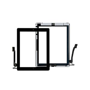 Black Touch Screen Digitizer Home Button Adhesive & Tempered Glass