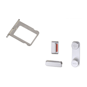 Compatible-SIM-Tray-Silent-Power-Volume-Button-Set-Replacement-For-iPhone-4-4s-171664288162